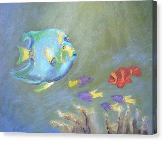 Tropical Fish Canvas Print by Patricia Kimsey Bollinger