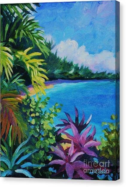 Fiji Canvas Print - Tropical Flora by John Clark