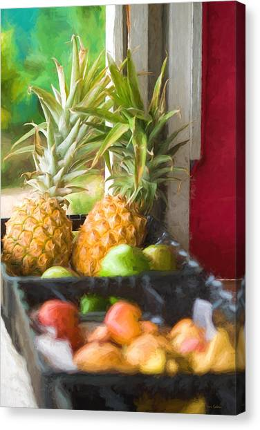 Tropical Fruitstand Canvas Print