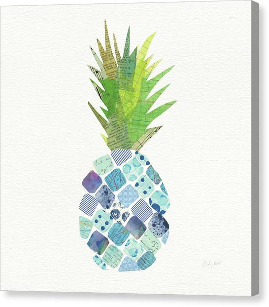 Pineapples Canvas Print - Tropical Fun Pineapple II by Courtney Prahl
