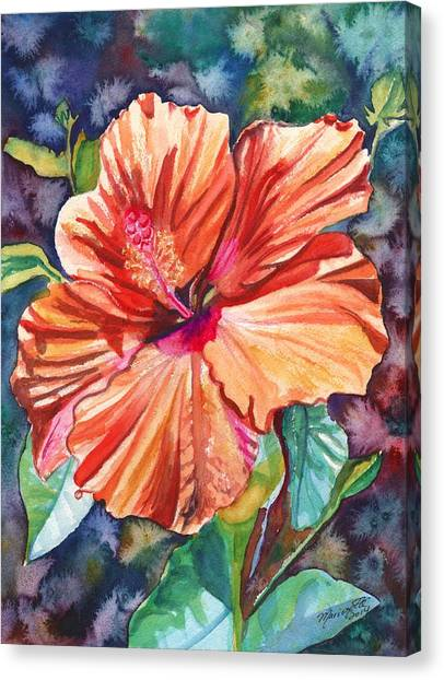 Tropical Hibiscus 5 Canvas Print