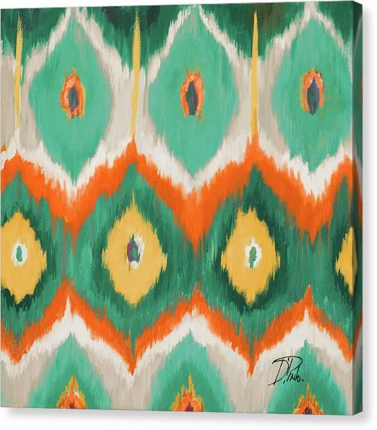 Circles Canvas Print - Tropical Ikat II by Patricia Pinto