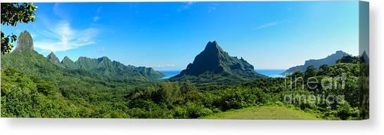 Tropical Moorea Panorama Canvas Print