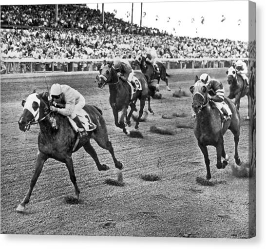 1962 Canvas Print - Tropical Park Horse Race by Underwood Archives