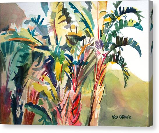 Banana Tree Canvas Print - Tropical Punch by Kris Parins