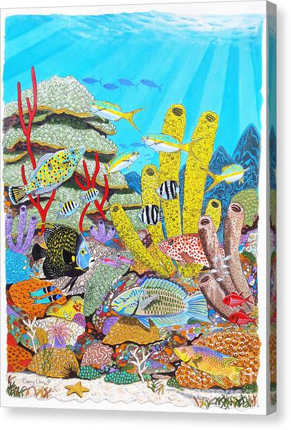 Coral Reefs Canvas Print - Tropical Reef by Carey Chen