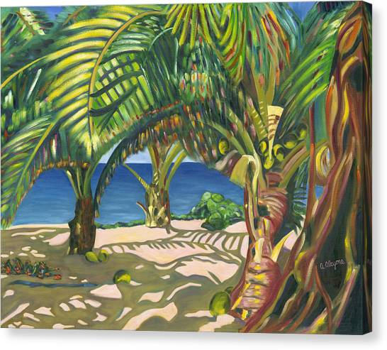 Tropical Shadows Canvas Print