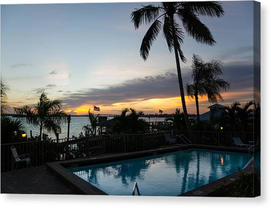 Canvas Print featuring the photograph Tropical Sunrise by Margaret Pitcher