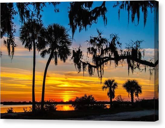 Tropical Sunset Canvas Print by Bob Mulligan