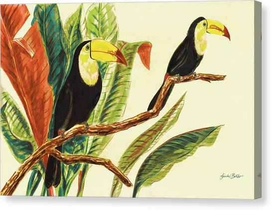 Toucans Canvas Print - Tropical Toucans II by Linda Baliko
