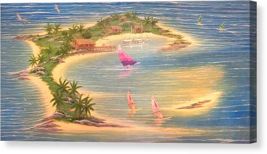 Tropical Windy Island Paradise Canvas Print