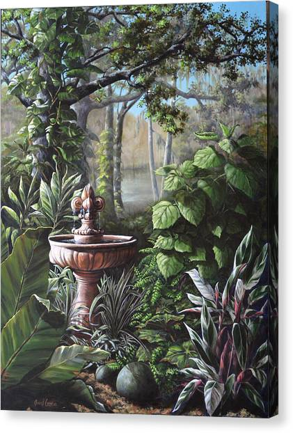 Florida Tropical Garden Canvas Print