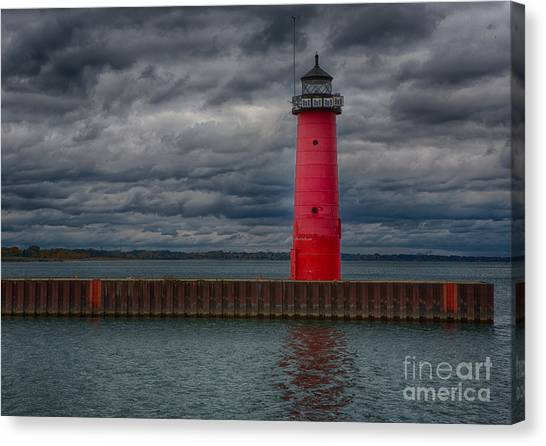 Troubled Skies Canvas Print by Ricky L Jones