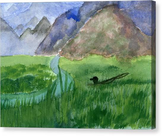 Trout Bum Canvas Print