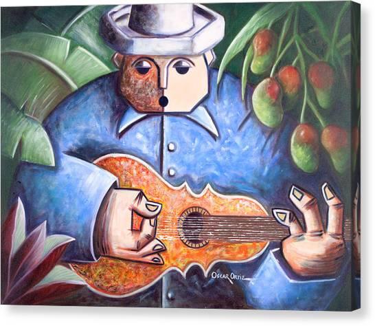 Mango Tree Canvas Print - Trovador De Mango Bajito by Oscar Ortiz