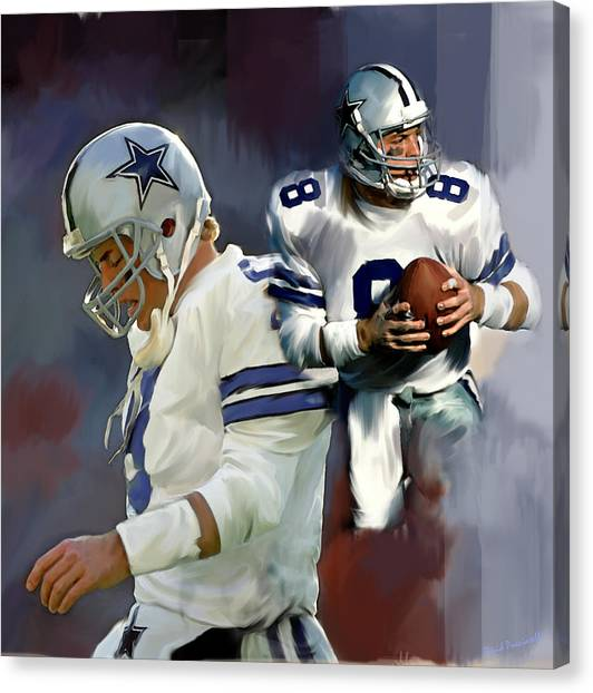 Troy Aikman  Aikam Canvas Print