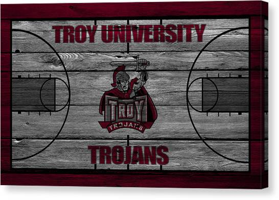 Sun Belt Canvas Print - Troy University Trojans by Joe Hamilton