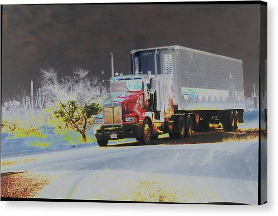 Truck Canvas Print by Astrid Lenz