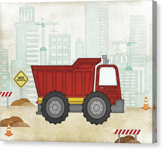 Dump Trucks Canvas Print - Truck by Jennifer Pugh