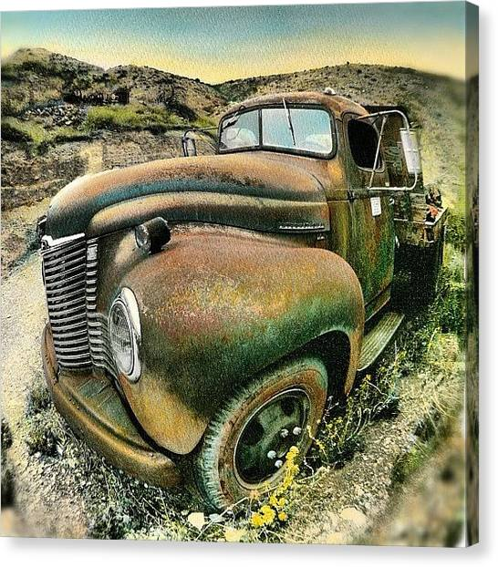 Trucks Canvas Print - #truck #rust #rusty #pickup #photo by Jill Battaglia