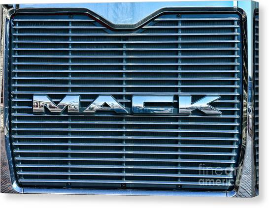 Ward Canvas Print - Truck - The Mack Grill by Paul Ward