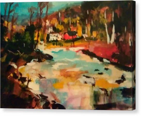 Truckee River Impression Canvas Print
