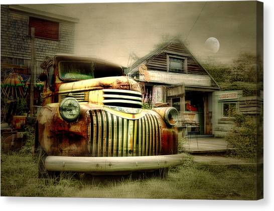 Truckyard Canvas Print