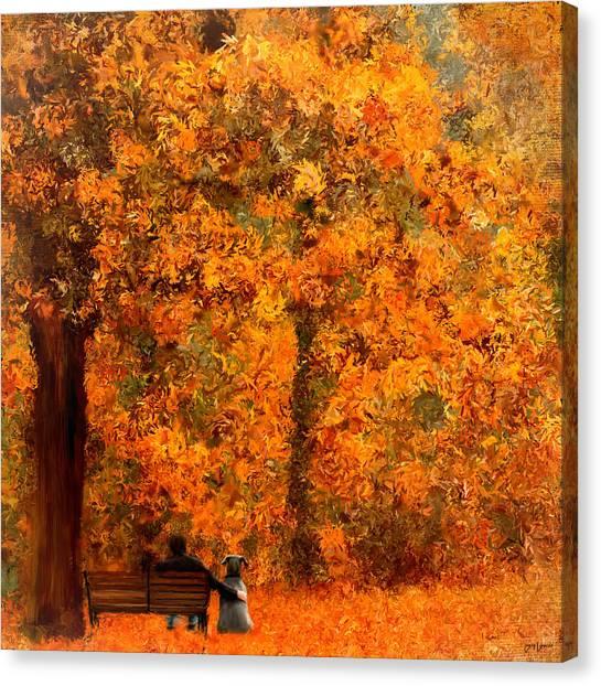 Mastiffs Canvas Print - True Companion by Lourry Legarde