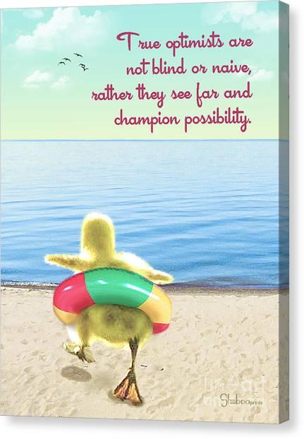 True Optimists Canvas Print