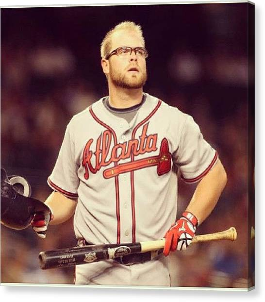 Atlanta Braves Canvas Print - Truestar.com/kingsofsports  #food #kos by Alex Mamutin