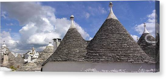 Drywall Canvas Print - Trullo Cottages by Tony Craddock/science Photo Library
