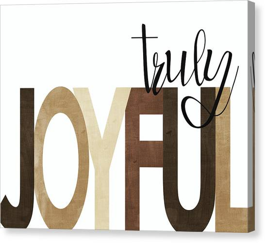 Thanksgiving Canvas Print - Truly Joyful Neutral by Alli Rogosich