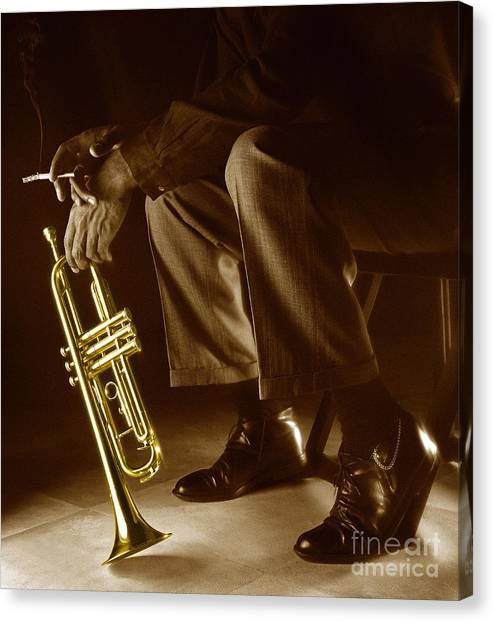 Trumpets Canvas Print - Trumpet 2 by Tony Cordoza