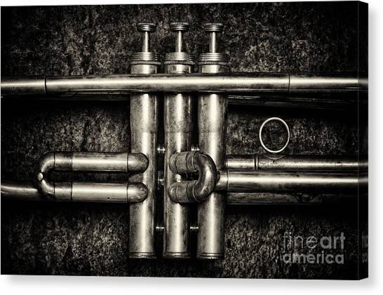Brass Instruments Canvas Print - Trumpet Abstract by Tim Gainey