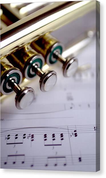 Brass Instruments Canvas Print - Trumpet V by Jon Neidert