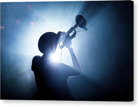 Concerts Canvas Print - Trumpet Player by Erik De Klerck