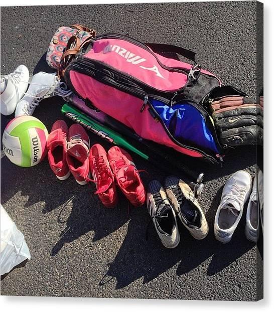 Softball Canvas Print - Trunk Of An Athlete. #athlete #sports by Jordan Scott