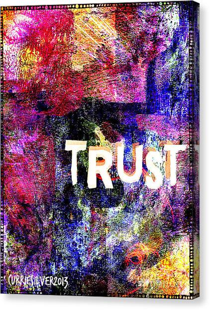 Trust Canvas Print by Currie Silver