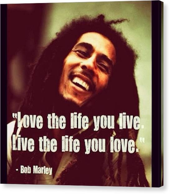 Jamaican Canvas Print - #truth #bobmarley #saying #quote #life by Scott Hamilton