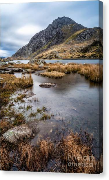 Ogwen Valley Canvas Print - Tryfan Mountain by Adrian Evans