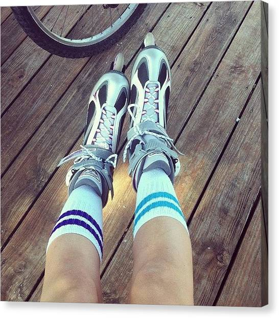 Rollerblading Canvas Print - Tryin To Get My #fit On. #workout by Stefanie Olson