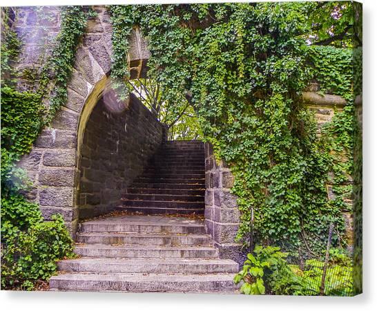 Stone Steps Canvas Print - Tryon Park Arch by Jon Woodhams
