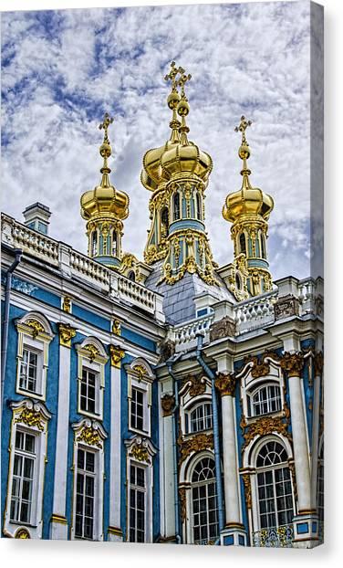 St John The Russian Canvas Print - Tsarskoye Selo - The Tsars Village by Jon Berghoff