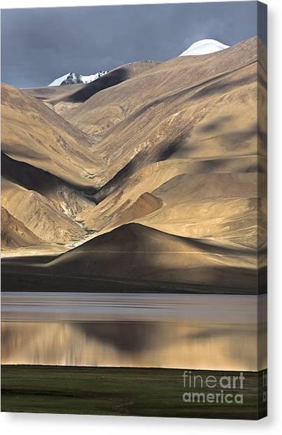 Golden Light Tso Moriri, Karzok, 2006 Canvas Print