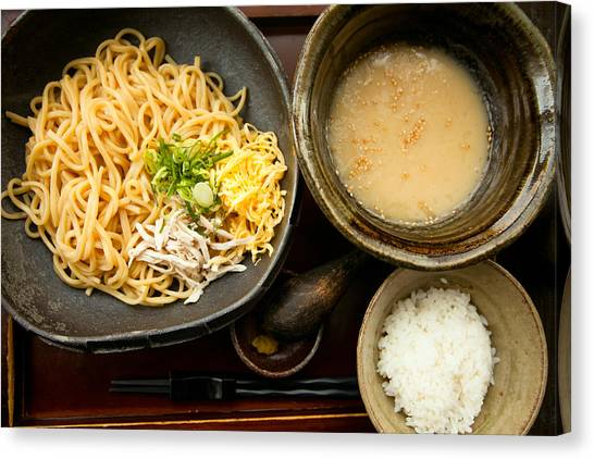 Canvas Print featuring the photograph Tsukemen by Brad Brizek