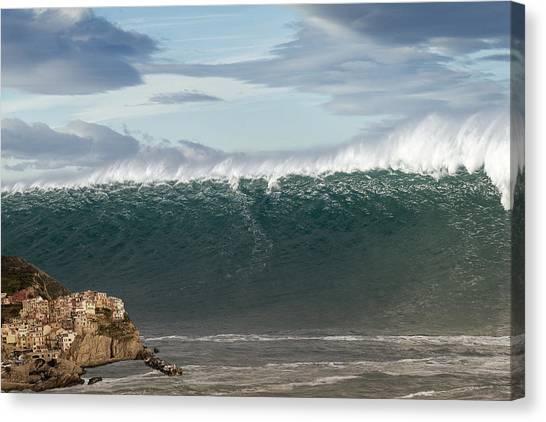 Tsunamis Canvas Print - Tsunami by Marco Colasuonno