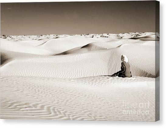 Sahara Desert Canvas Print - Tuareg by Delphimages Photo Creations