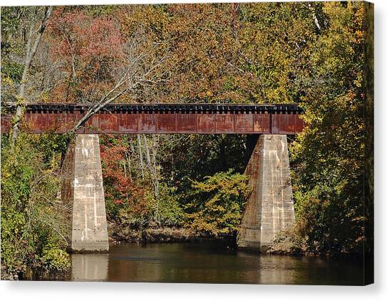Tuckahoe Railroad Bridge Up Close Canvas Print by Bill Swartwout Photography