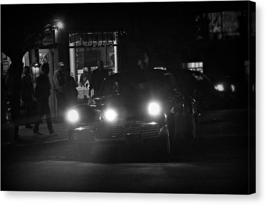 Tucker Noir Canvas Print