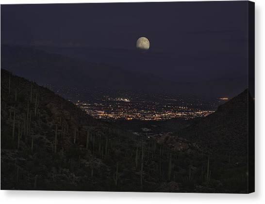 Tucson At Dusk Canvas Print